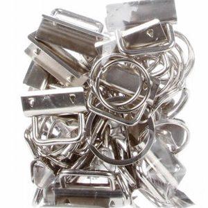 Key Fob Hardware 4ct by Joan Hawley
